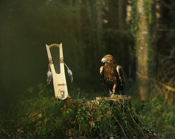 Lyre d'Oberflacht -Aigle