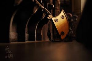 Psaltérion en écu instrument médiéval