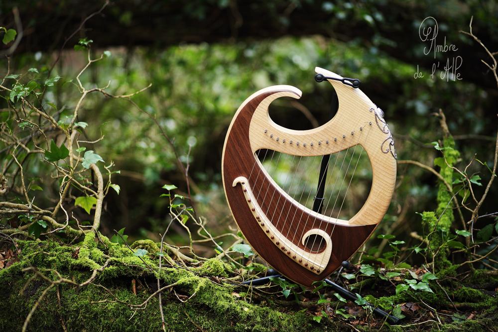 Harpe-Lyre Gaëlia – Noyer