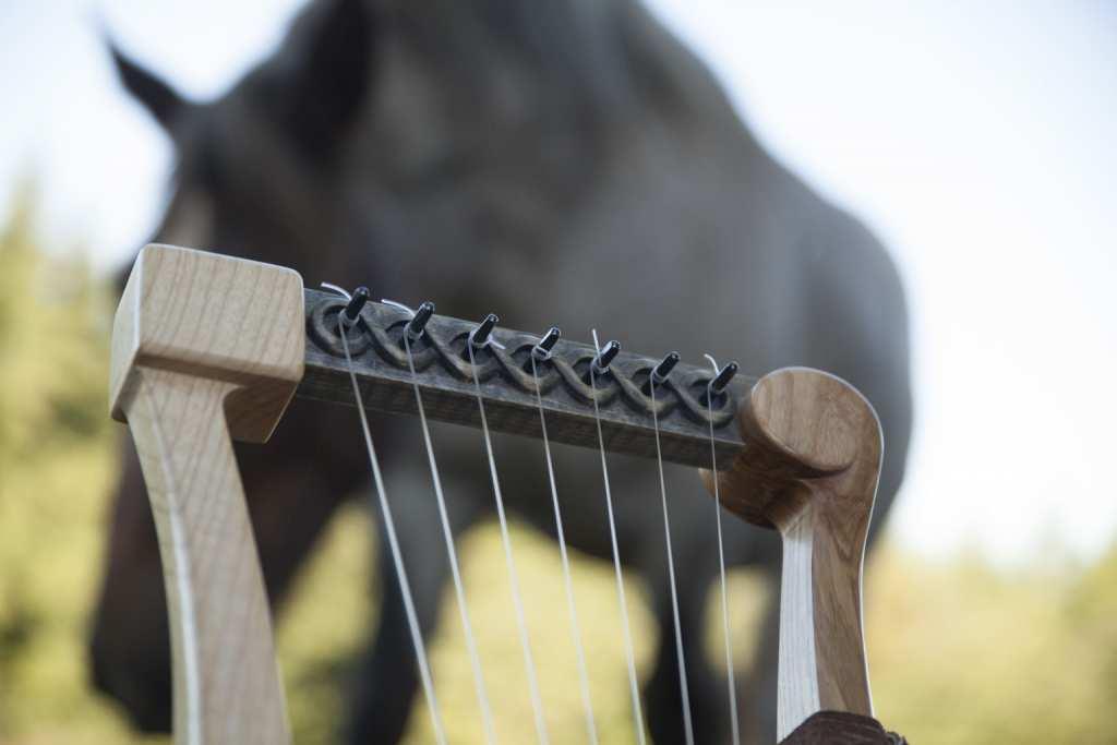 Lyre Gauloise épona gallic lyre epona celtic lyre
