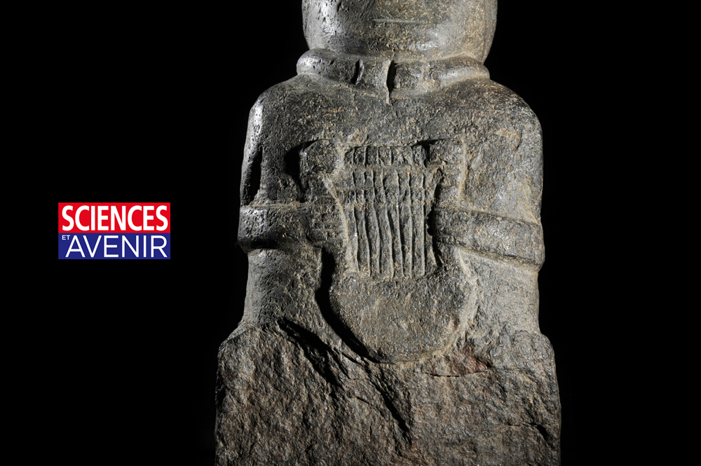 Bretagne : le barde à la Lyre, ou les secrets d'une statue gauloise révélée par la 3D
